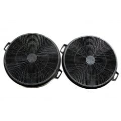 KIT 1 Filtro metálico + 2 filtros de carvão 21cm coifa Vetro 60